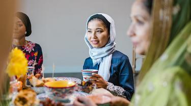 Ilustrasi Muslim, puasa, buka puasa
