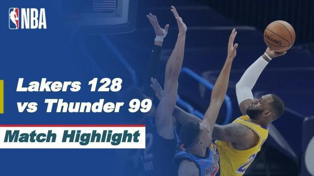 Berita Video, Highlights NBA, LA Lakers Kalahkan Oklahoma City Thunder (14/01/2021)