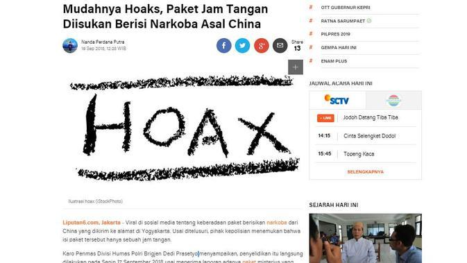 [Cek Fakta] Paket Berisi Narkoba Dikirim ke Yogyakarta dari China, Fakta atau Hoaks?