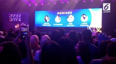 Tasya Farasya raih XYZ Day 2018 Award untuk kategori fashion and beauty.