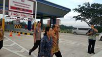 Menteri BUMN Rini Soemarno menyusuri Jalan Tol Trans Sumatera ruas Bakauheni-Terbanggi Besar sepanjang 140,9 kilometer (km) pada Jumat ini (8/3/2019). Dok Kementerian BUMN