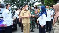 Pjs Gubernur Sulut Agus Fatoni mengunjungi Rumah Sakit Umum Daerah (RSUD) Kota Kotamobagu di Kelurahan Pobundayan, Kecamatan Kotamobagu Selatan, Rabu (25/11/2020).