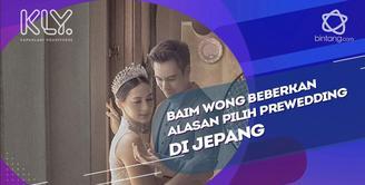 Alasan Baim Wong memilih jepang sebagai tempat prewedding.