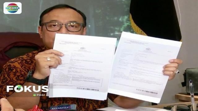 Bareskrim Polri tangkap dua penyebar hoaks 7 kontainer berisi surat suara tercoblos.