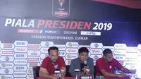 Jumpa pers jelang pertandingan Borneo FC melawan  Persija di Piala Presiden 2019 (Switzy Sabandar)