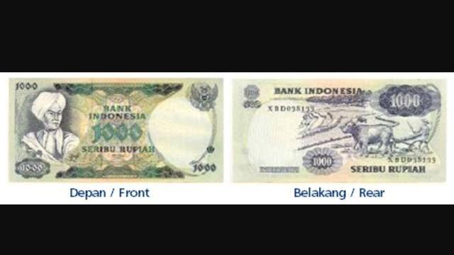 4. Rp 1.000/Tahun Emisi 1975 (bergambar Pangeran Diponegoro). (Foto: BI)