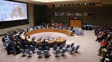 Sidang Briefing Dewan Keamanan PBB (DK PBB) mengenai Anak-anak dalam Konflik Bersenjata (Security Council Briefing on Children in Armed Conflict) di Markas Besar PBB di New York, Rabu, 12 Februari 2020.