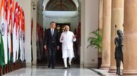 Perdana Menteri Singapura, Lee Hsien Loong dan Perdana Menteri India, Narendra Modi di Singapura. PM Modi akan menyampaikan pidato utama dalam Dialog Shangri-La Singapura 2018 (sumber: International Institute for Strategic Studies)
