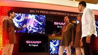 Peluncuran Smart TV Sharp terbaru di Jakarta, Selasa (6/6/2017)