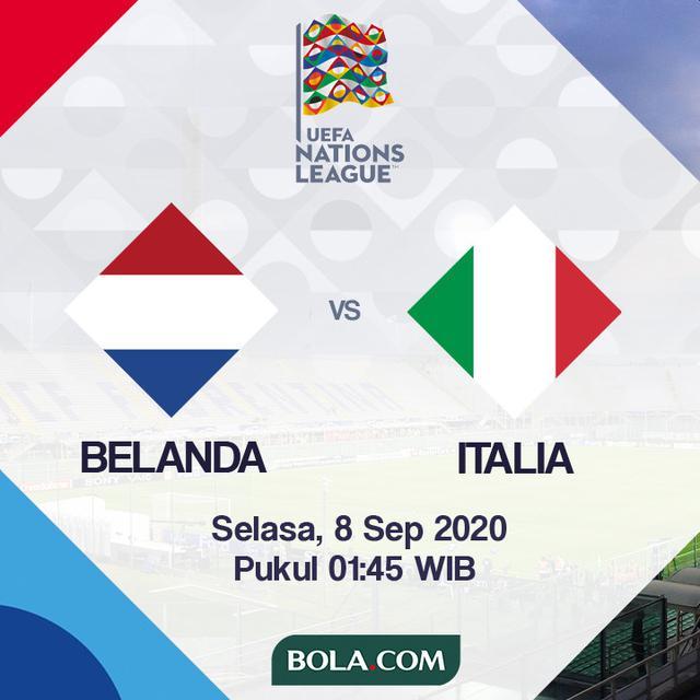 Prediksi Uefa Nations League 2020 2021 Belanda Vs Italia 3 Poin Jadi Hal Wajib Dunia Bola Com