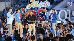 Pengusaha yang juga Cawapres nomor urut 02, Sandiaga Uno saat menghadiri acara Young Entrepreneur Summit (YES) 2019 di Istora Senayan, Jakarta, Rabu (10/4). Roadshow penutup YES 2019 yang telah berlangsung di 7 kota besar diselenggarakan KAHMIPreneur. (Liputan6.com/Fery Pradolo)