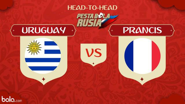 Berita video head-to-head Piala Dunia Rusia 2018: Uruguay vs Prancis.