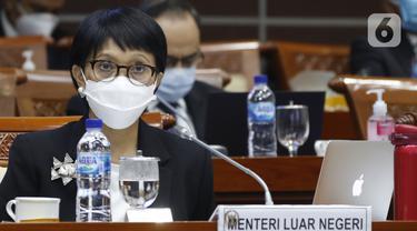 Bahas Diplomasi Vaksin COVID-19, Menlu Retno RDP dengan Komisi I DPR