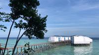 Salah satu resort di Pulau Maratua yang diduga menyalahi Peraturan Menteri Kelautan dan Perikanan.