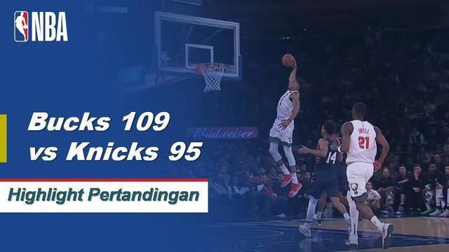Giannis Antetokounmpo mencetak 30 poin dan 14 rebound dalam debut Natalnya, dan Bucks merayakan kembalinya mereka ke jadwal liburan dengan mengalahkan Knicks 109-95