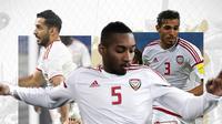 Ali Mabkhout, Ali Salmeen dan Walid Abbas. (Bola.com/Dody Iryawan)