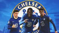 Chelsea - Mason Mount, Romelu Lukaku, Kai Havertz (Bola.com/Adreanus Titus)