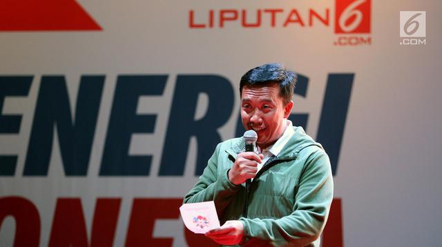 Menpora Imam Nahrawi memberikan sambutan dalam acara Energi Indonesia untuk Asia dan Dunia, di Jakarta, Rabu (12/9). Acara tersebut merupakan rangkaian Gebyar Sukses Asian Games 2018 yang dimulai dari Jakarta. (Liputan6.com/Johan Tallo)