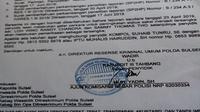 Dua orang pengusaha Makassar ditetapkan jadi tersangka dalam kasus dugaan pidana pemalsuan surat utang (Liputan6.com/ Eka Hakim)