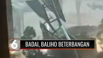 VIDEO: Detik-detik Angin Kencang dan Hujan Deras di Depok, Baliho dan Pohon Tumbang