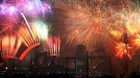 Pesta Kembang Api saat merayakan malam tahun baru 2015 di Sydney (Foto: http://www.mirror.co.uk/)
