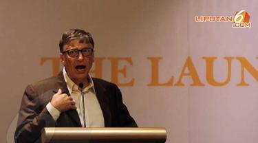 Sabtu (05/04/14), pengusaha klas wahid dunia yang juga pendiri Microsoft, Bill Gates kembali mengunjungi Jakarta (Liputan6.com/Miftahul Hayat)