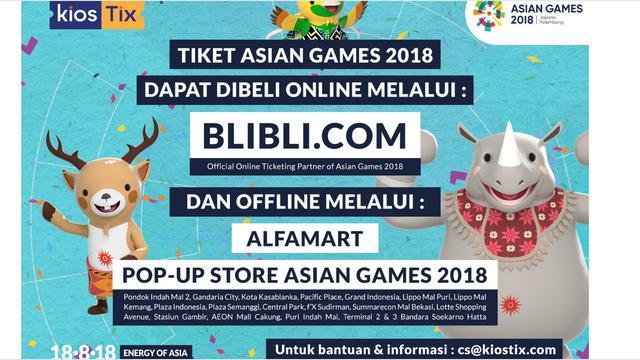 Asian Games 2018 Tiket Pertandingan Bisa Dibeli Secara Offline