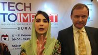 Kedutaan Besar Inggris di Indonesia menggelar lokakarya Tech to Impact di Surabaya, Senin (17/2/2020). Kegiatan ini merupakan pengembangan dari departemen UK-Indonesia. (Foto: Liputan6.com/Dian Kurniawan)