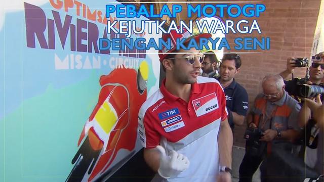 Video kegiatan melukis para pebalap MotoGP yang dilakukan jelang GP San Marino yang digelar Minggu (11/9/2016).