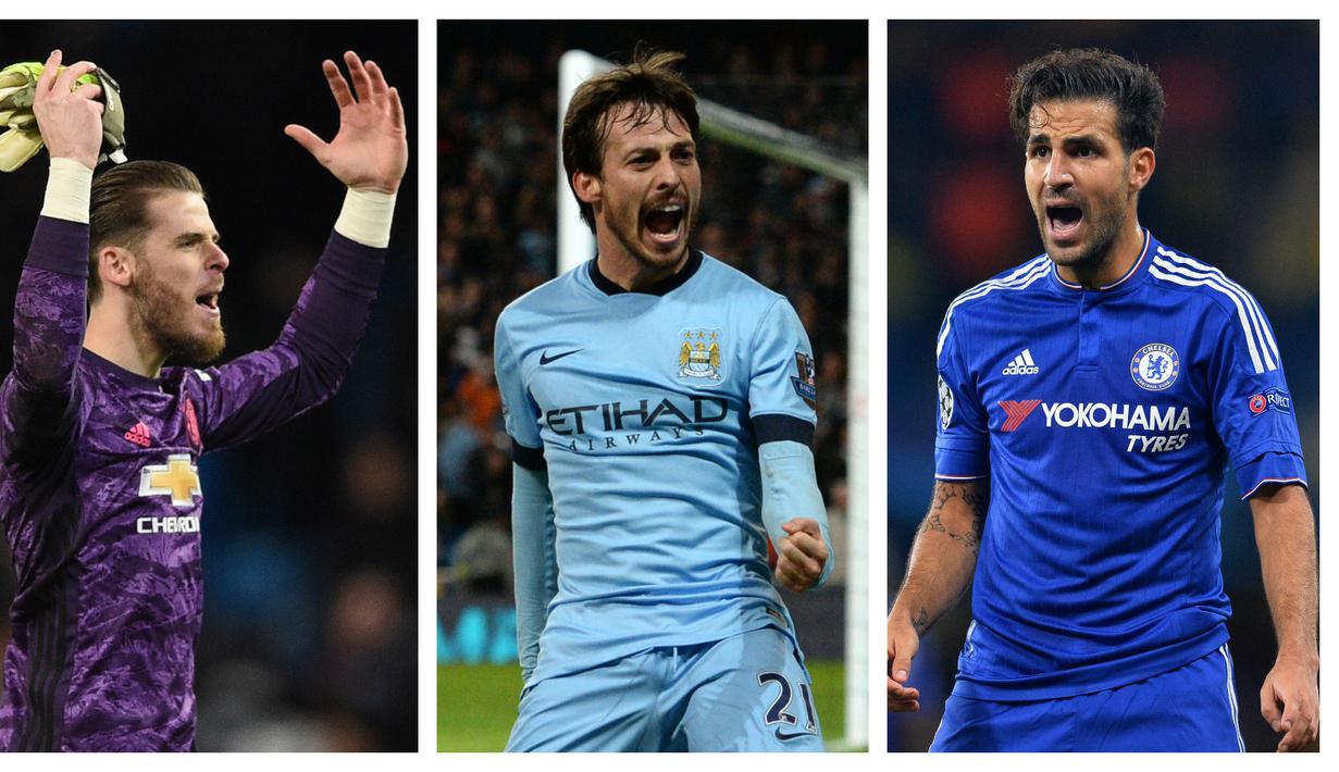 Meski tidak terlalu dominan seperti para pemain impor asal Prancis, namun kehadiran para pemain Spanyol dalam sejarah Liga Inggris, terutama abad ini, sungguh telah meninggalkan jejak luar biasa. Berikut 7 pemain terbaik asal Spanyol dalam sejarah Premier League. (Kolase Foto AFP)