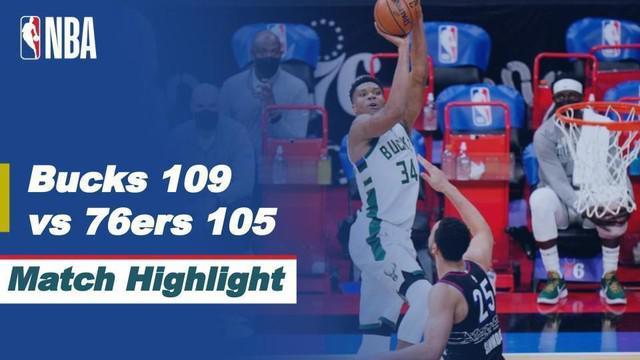 Berita video highlights NBA Milwaukee Bucks sukses mengalahkan tuan rumah sekaligus pimpinan klasemen NBA wilayah barat Philadelphia 76ers dengan skor 109-105.