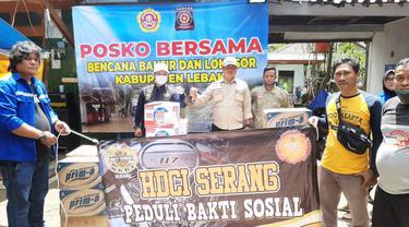 Klub Moge Harle Davidson Berikan Bantuan Bagi Korban Banjir Di Kabupaten Lebak, Banten. (Kamis, 10/12/2020). (Dokumentasi HDCI).