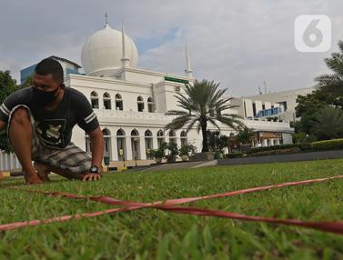 Persiapan Sholat Idul Fitri Masjid Al Azhar