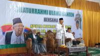 Calon wakil presiden Ma'ruf Amin, mendapatkan dukungan dari ulama Banten K.H. Abuya Muhtadi Dimyathi di Pilpres 2019.