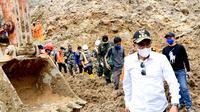 Gubernur Sumatra Utara (Sumut) Edy Rahmayadi tinjau lokasi longsor di kawasan proyek Pembangkit Listrik Tenaga Air (PLTA) Batang Toru (Istimewa)