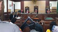 Sidang tuntutan terhadap bandar ganja (Liputan6.com/Pramitha)