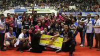Putri Jakarta Pertamina Energi berhasil menaklukkan Jakarta PGN Popsivo Polwan 3-1 sekaligus mejuarai Final Four pada laga Seri II Proliga 2019 di GOR Ken Arok Malang, Minggu (17/2/2019). (Dok Proliga)