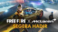Free Fire umumkan kolaborasi dengan tim Formula 1, McLaren Racing. (Foto: Ist.)