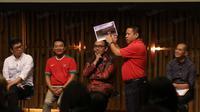 Debat Calon Ketua Umum PSSI. (Bola.com/Nicklas Hanoatubun)