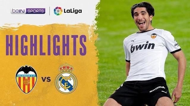 Berita video highlights Real Madrid dibungkam Valencia 1-4 pada pekan kesembilan Liga Spanyol 2020/2021, di mana 3 gol penalti tercipta dalam laga tersebut, Senin (9/11/2020) dinihari WIB.
