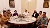 Presiden Jokowi bertemu enam ketua umum parpol koalisi di Istana Kepresidenan Bogor, Jawa Barat, Selasa (23/7/2018). (Biro Pers Kepresidenan)