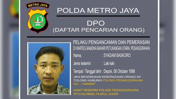 DPO kasus perampokan warteg (foto: Humas Polda Metro Jaya)