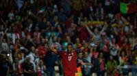 Gelandang tim nasional Portugal, Luis Nani. (AFP/Miguel Riopa)