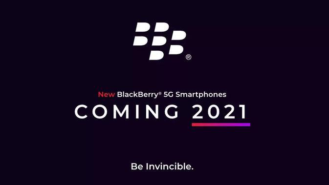 Smartphone 5G Blackberry siap diumumkan pada 2021. (Doc: Blackberry)