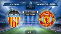 Liga Champions 2018 Valencia Vs Manchester United (Bola.com/Adreanus Titus)