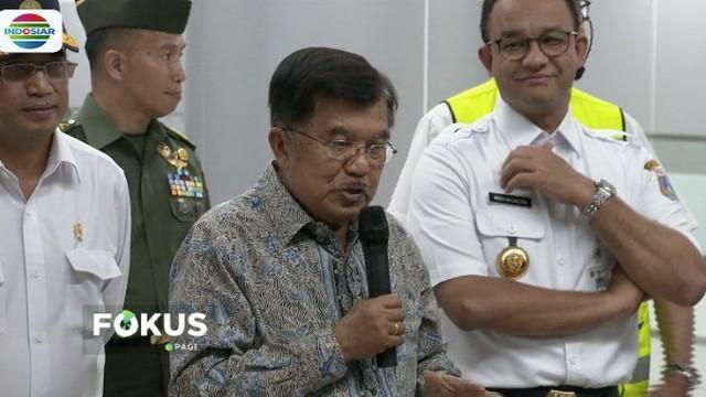 Uji coba MRT untuk pertama kali, Jusuf Kalla imbau warga harus disiplin saat nikmati fasilitas MRT.