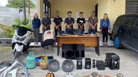 Komplotan pencuri beranggotakan 7 orang terdiri dari 5 pria dan 2 wanita, diamankan pada Rabu (27/1/2021).