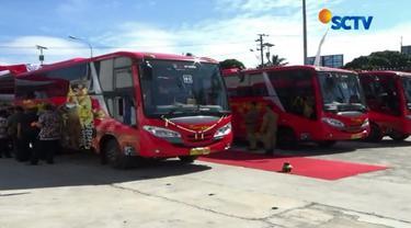 Pemprov Jawa Tengah, Kamis, 6 Juli 2017, meluncurkan layanan bus rapid transit, BRT Trans Jateng.