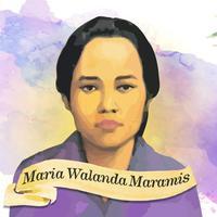 Maria Walanda Maramis mendidik perempuan Minahasa. (wikipedia)