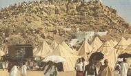 Tenda yang digunakan jamaah haji biasanya terlihat di Arafah. | via: National Geographic Magazine
